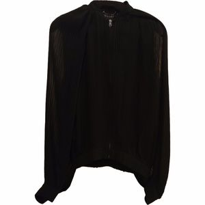 Gucci Silk Top Pleated Open Sleeves